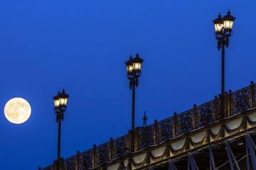 full moon over the bridge
