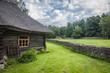 Leinwanddruck Bild - Traditional housing of the indigenous populations of Estonia
