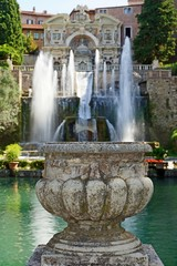 Villa d'Este in Tivoli, Italy, Europe