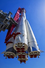 "Soviet rocket ""Vostok"", was used to launch the first man into sp"