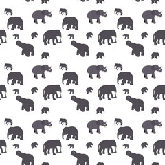 Seamless Pattern of Elephant.