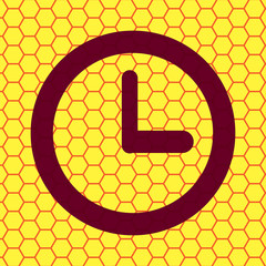 Watch icon Flat with abstract background