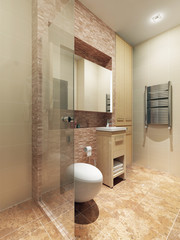 A bathroom in modern style
