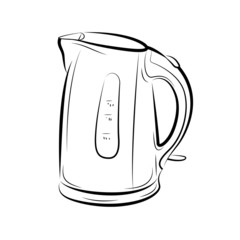 Drawing of the teapot kettle