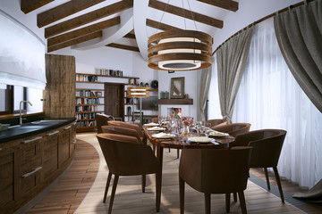 Dining room in a modern style