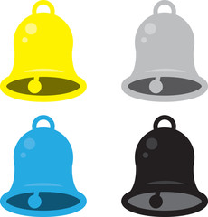 Isolated bells in various colors