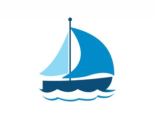 boat logo,sea travel,wind cruise sailboat,beach