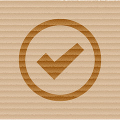 check mark icon flat design with abstract background