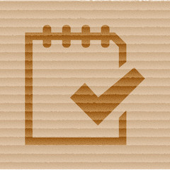 Notepad paper Documents icon flat design with abstract