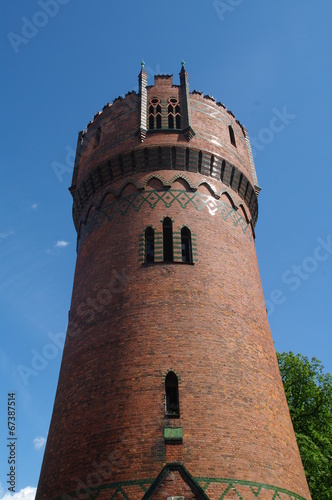 canvas print picture Wasserturm in Wismar 1