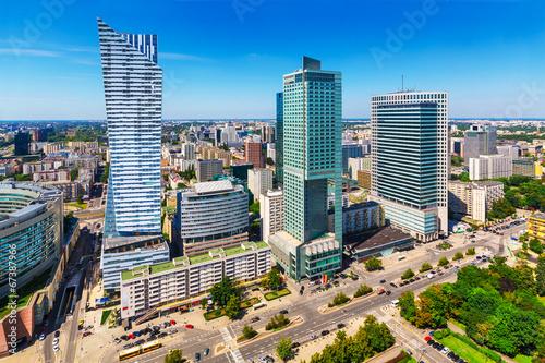 Zdjęcia na płótnie, fototapety na wymiar, obrazy na ścianę : Business district in Warsaw, Poland