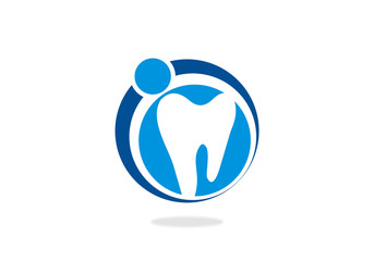 Dentist vector logo design template