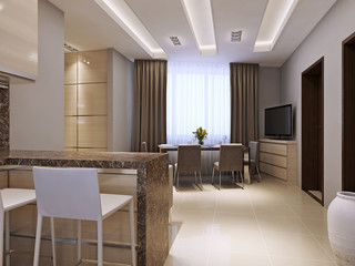 kitchen dining room in modern style
