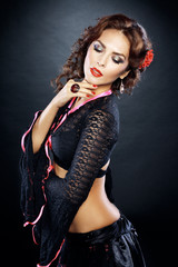 beautiful flamenco dancer