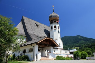Church in Oberau, Berchtesgadener Land Germany.
