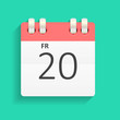 Flat Calendar Icon Vector Illustration