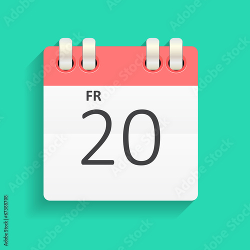 Flat Calendar Icon Vector Illustration