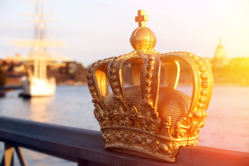 stockholm view with crown