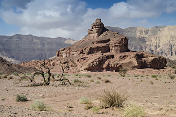 Geological formation  in Timna park, Israel