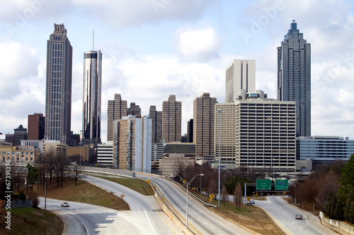 Plakat Downtown Atlanta Skyline