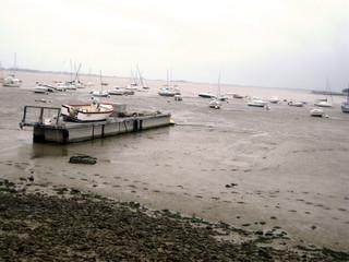Bateau marée basse