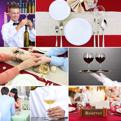 Restaurant collage