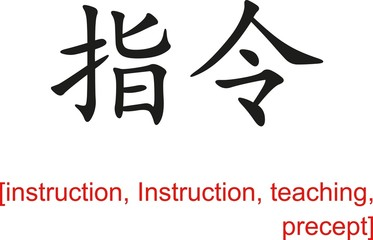 Chinese Sign for instruction, Instruction, teaching, precept