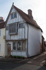 Timber framed cottages of medieval Lavenham, UK