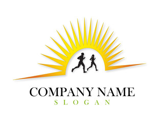 Runners vector logo