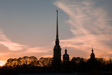 Silhouette of the Peter and Paul Fortress