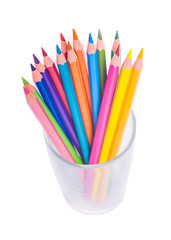 Cup with colorful Pencils