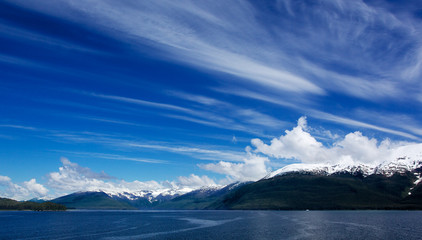 Alaskan Sky Clouds Left to right