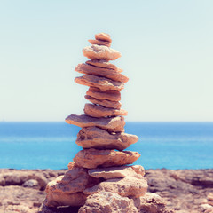 Balanced stones, pebbles stacks