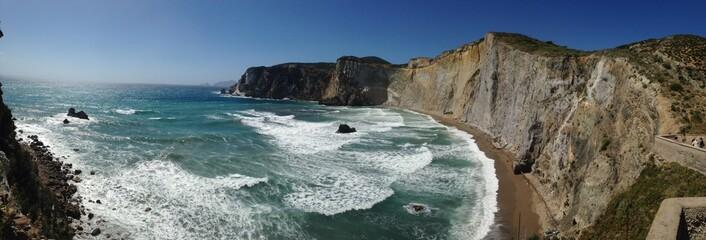 Panoramic view of Chiaia di Luna Beach - Ponza, Italy