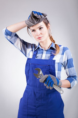 Woman tired of repairing