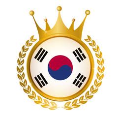 韓国 国旗 メダル