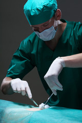 Doctor during surgery
