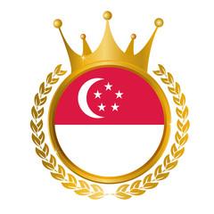 シンガポール 国旗 メダル