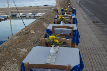 dinner on bay between Rivelino and Canneto in Gallipoli (Le)