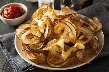 Homemade Spiral Cut Potato Chips