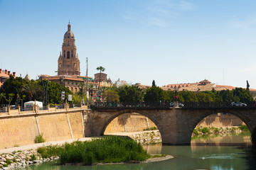 Old bridge over Segura river in Murcia, Spain