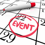 Event Word Circled Calendar Date Special Day Party Meeting