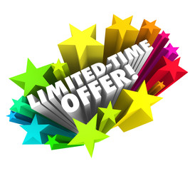 Limited Time Offer Stars 3d Words Special Savings Deal Ending So