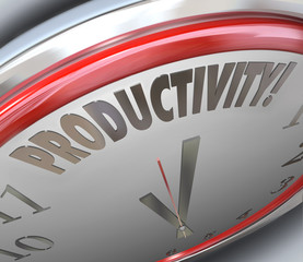 Productivity Clock Increase Efficiency Output More Done Less Tim