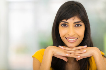smiling young indian woman