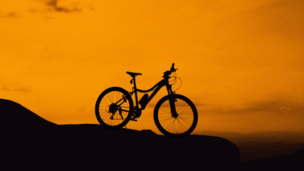 Bicycle on hill mountain