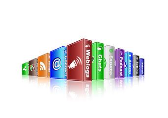 social media concept - weblogs 2