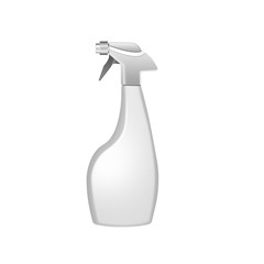 Spray pistol cleaner plastic bottle , isolated on white backgrou