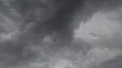Beautiful rain clouds moving, timelapse