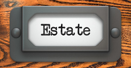 Estate - Concept on Label Holder.